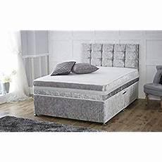 crushed velvet divan bed with mattress headboard