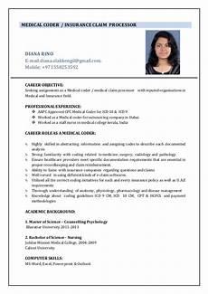 Medical Coding Resume Format Resume Medical Coder