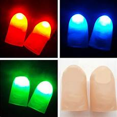 Light Up Thumbs 2xparty Halloween Magic Light Up Two Thumb Finger Trick