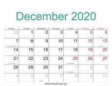 December 2020 Calendar With Holidays December 2020 Calendar Printable With Holidays