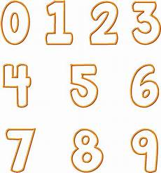 Fonts For Numbers 16 Number Applique Font Images Embroidery Number Designs