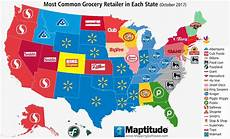 Grocery Store Map Maptitude Map Most Common U S Grocery Chain By State