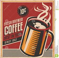 kaffe plakat retro kaffee plakat vektor abbildung illustration