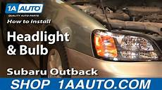 2011 Subaru Outback Front Side Marker Light How To Replace Headlight 00 04 Subaru Outback 1a Auto
