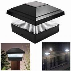 Deck Solar Light Caps Solar Led Powered Light Garden Deck Cap Outdoor Decking