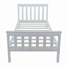 modern solid wood bed frame 3ft single in white wooden