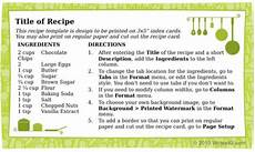 recipe card template word 2007 recipe card template for free formtemplate