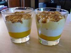 verrine de mousse de mangue recette de verrine de mousse