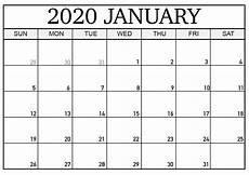 Printable Monthly Calendar January 2020 Printable Calendar January 2020 Calendar Printables Free