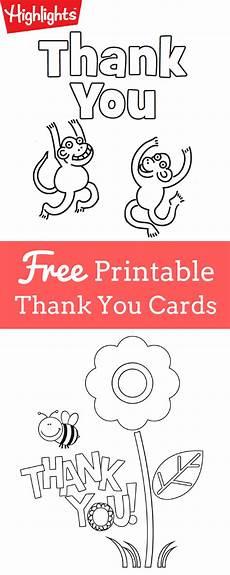 Thank You Cards To Print Free Printable Thank You Cards Thank You Cards From Kids