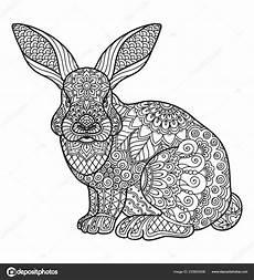 Ausmalbild Hase Muster Malseite F 252 R Erwachsene Und Kinder Malbuch Oder Bullet