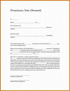 Unsecured Promissory Note Template 9 Template For Promissory Note Sampletemplatess