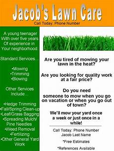 Lawn Mower Flyers My Lawn Care Flyer What Do You Think Lawnsite