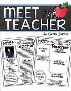 Meet The Teacher Newsletter Templates Meet The Teacher Editable Newsletter Back To School Open