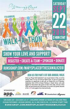 Walk A Thon Posters Mary S Place By The Sea 2018 Walk A Thon