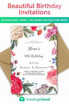 Invitation Cards To Print Create Your Own Birthday Invitation In Minutes Download