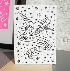 It Goodbye Checks Design Leaving Card With Diamante By Spdesign