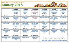 How To Meal Plan For A Month Healthy Meal Plan For January Healthy Menu Plan Pritntable