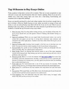 Essay On Line Top 10 Reasons To Buy Essays Online