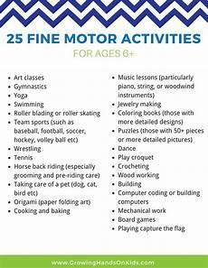 25 Fine Motor Activities For Older Kids Ages 6