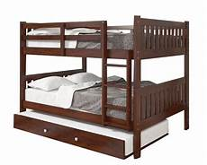 max size cappuccino bunk bed with trundle beds