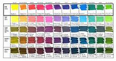 Ink Color Chart The Harmless Dilettante Ink Mixing