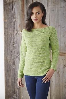 boat neck pullover sweater allfreecrochet