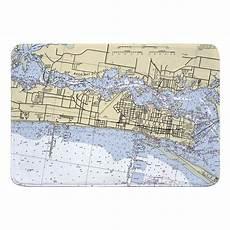 Tide Chart Biloxi Ms Ms Biloxi Ms Nautical Chart Memory Foam Bath Mat