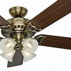 Aireryder Ceiling Fan Light Kit 52 Quot Hunter Ceiling Fan Antique Brass 4 Light Fixture W
