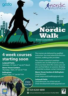 Walking Flyer Lewisham Nordic Walking Part Of The Be Inspired Programme