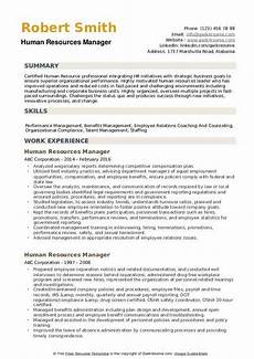Resume Human Resources Manager Human Resources Manager Resume Samples Qwikresume