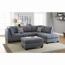 Nailhead Trim Sofa 3d Image by Modern Living Room Blue Grey Nailhead Trim Tufted