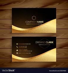 Premium Business Cards Luxury Golden Premium Business Card Design Vector Image