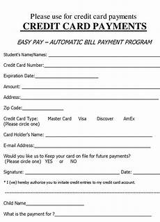Credit Card Charge Authorization Charge Authorization Form