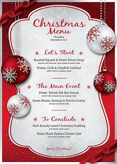 Free Blank Christmas Menu Templates Christmas Menu Template Psd V 4