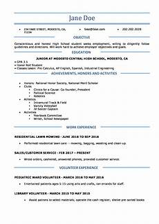 Resume Outline For High School Students High School Resume Resume Templates For High School