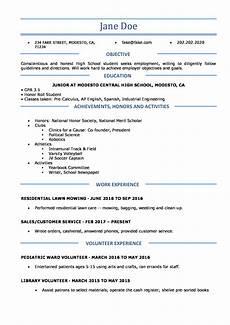 How To Create A High School Resume High School Resume Resume Templates For High School