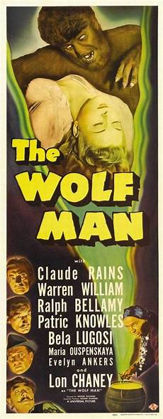 Horror Movie Body Count Chart The Wolf Man Movie Poster Universal Monsters By