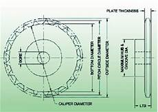 Sprocket Diameter Chart The Basics Of Roller Chain Sprockets Maintenance Technology