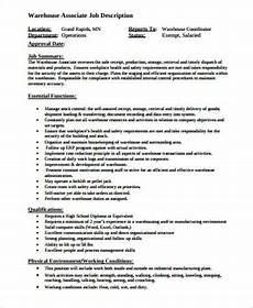 Operations Associate Job Description Warehouse Associate Job Description Sample 8 Examples