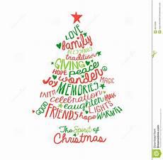 Word Christmas Card Christmas Card Word Cloud Tree Design Stock Vector Image