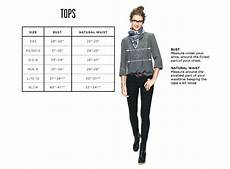 Madewell Size Chart Clothing Size Charts Amp Measurement Guide Madewell