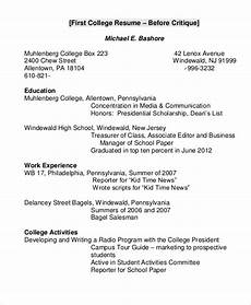 Examples Of College Resume Free 8 College Resume Samples In Ms Word Pdf