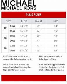 Michael Kors Shoes Size Chart Cm Michael Michael Kors Plus Size Chart Via Macys Size