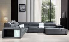 Sectional Sofa Grey 3d Image by Polaris Grey Bonded Leather Sectional Sofa