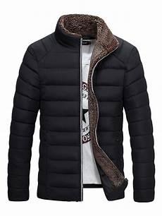 mens winter coats ericdress plain stand collar thicken warm vogue s