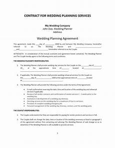 Free Wedding Contract Template Wedding Planner Contract Template