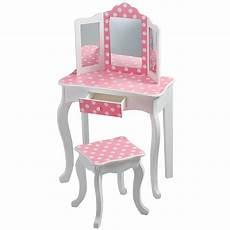 teamson fashion prints polka dot vanity table stool