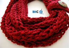 finger knit infinity scarf b hooked crochet finger
