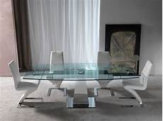 tavoli in vetro e acciaio tavolo allungabile in acciaio inox e vetro sabino